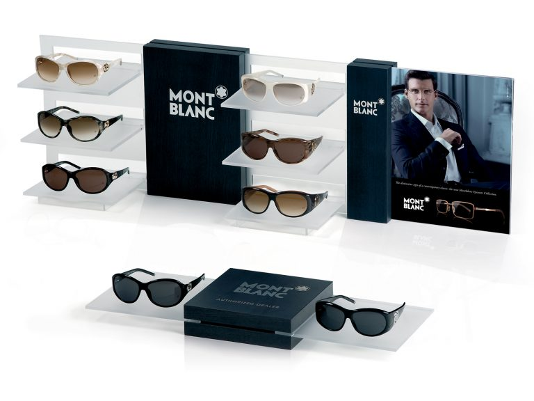 Mont Blanc Espositore modulare da banco/vetrina, Materiali: Legno e plexiglass