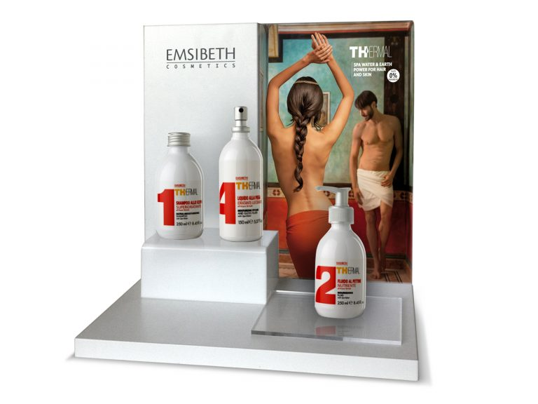 Emisbeth Display da banco, materiali: plexiglass