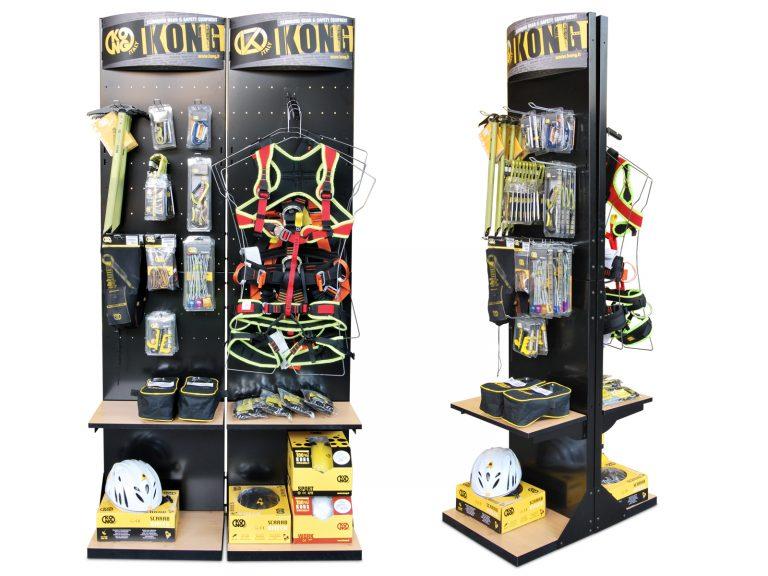 Kong Espositore da terra modulare antifortunistica, materiali: Metallo e legno.