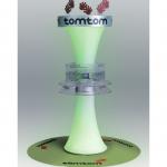 TomTom Espositore da terra per testare il prodotto, materiali: Metallo, plexiglass, tessuto, dibond e polipropilene