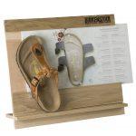 Birkenstock Espositore bifacciale sistema modulare in legno e plexiglass